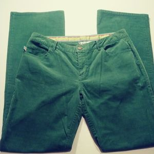 Lilly Pulitzer Green Corduroy Pant
